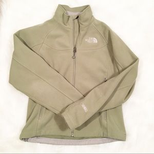 North Face green fleece zip up jackets size small
